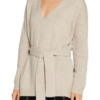 Barrett tie-front wool-blend sweater   ELIZABETH AND JAMES   Sale up to 70% off   THE OUTNET