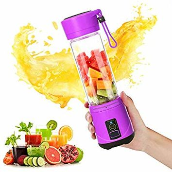 SUNAVO BL-09 Portable Blender Mini Travel Juice Cup,USB Rechargeable Blender Shakes and Smoothies,Blender Smoothie Single Served,with USB Charging Sport Mini Juice Maker,Purple