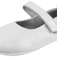Old Soles Girl's 022 Gabrielle White Soft Leather Mary Jane Crib Walker Baby Shoes