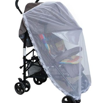 Hot mosquito net baby bed mosquito net Universal Lace Safe Baby Carriage Insect Mosquito Net Baby Stroller Bed Net