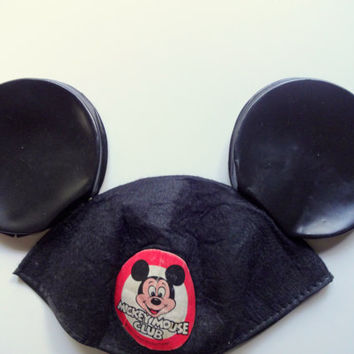 Vintage Mickey Mouse Club Toddler Hat With Ears