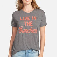 Women's Lucky Brand 'Sunshine' Graphic Print Tee,