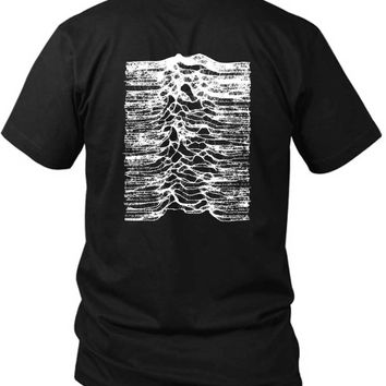 Joy Division Unknown Pleasure Remember Earthquake 2 Sided Black Mens T Shirt
