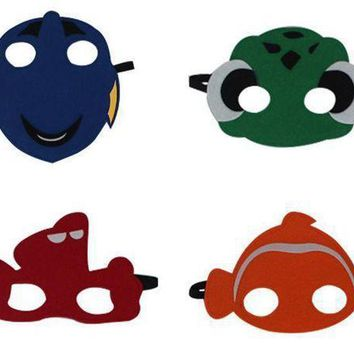 Finding Dory Nemo Swim Mask Inspired Felt Cartoon Fish Felt Masks Children Kids Party Costume Fancy Dress Cos Fish - Beauty Ticks