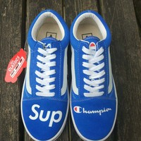VANS  blue fashion casual shoes