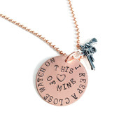 I Keep a Close Watch on this Heart of Mine - Hand Stamped Copper Necklace or Keychain, Valentine's Gift for Her, Gift for Him under 50