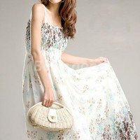 NWT Straps Long Chiffon Cocktail Women's Dress 2 Colors Free Shipping!  - US$8.53