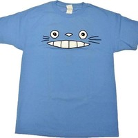 Cheshire Totoro Face - Blue (T-Shirt)