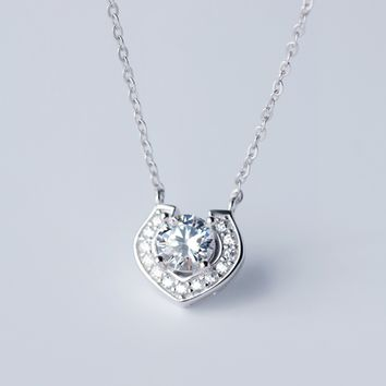 Fashion zricon 925 Sterling Silver necklace, a perfect gift