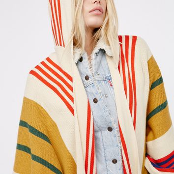 Free People Back Bay Hooded Kimono