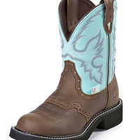 Justin Women's Waterproof Gypsy Boots in Bay Apache & Turquoise L9915