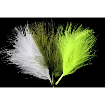 Tigofly 100 pcs/lot 6 Colors Turkey Marabou Blood Feathers Woolly Bugger Streamers Fly Tying Feather Materials