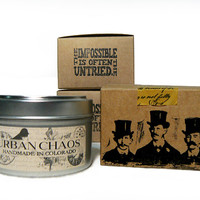 Bourbon Candles 6oz Tin - Scented Candles - Unique Gift Basket Ideas - Rustic Candles - Gifts for Him & Her by Urban Chaos