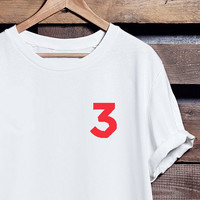 Chance 3 Tee | Chance The Rapper Apparel in Black, Red and White | 100% Ringspun Cotton