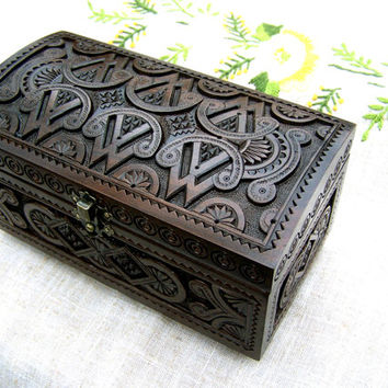 black jewelry box Wooden box Carved wood box Ring box Wedding ring holders Wood boxes Wooden boxes Wood carving Jewelry boxes Jewellery B34