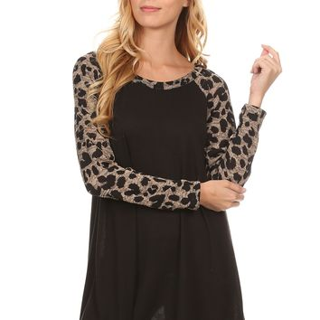 Cheetah Sleeved Top