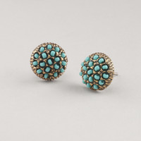 Turquoise and Gold Stud Earrings | World Market