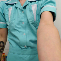 Twin Peaks Double R diner inspired uniform (dress and apron) Shelly Johnson Norma Jennings