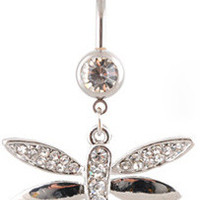 Stainless Steel Environmental Double-layered Belly Ring [6768826183]