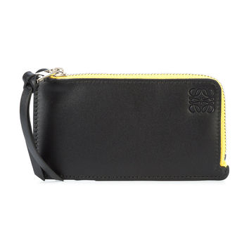 Loewe Rainbow Coin And Card Holder - Black Calf Leather Holder