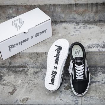 Revenge x Storm Old Skool Black Skateboarding Shoe 35-44