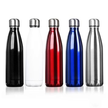 500ml Eco-Friendly Coffee Tea Bowling Insulated Stainless Steel Bottle Vacuum Flask Gift for office Home Travel Use