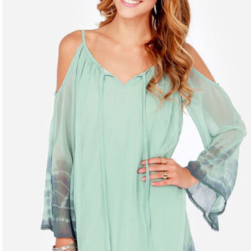 Off Shoulder V-Neck Spaghetti Strap Chiffon Dress
