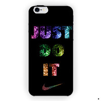 Just Do It Black Glitters Logo Nike For iPhone 6 / 6 Plus Case