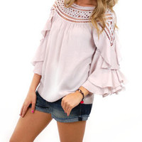 Feeling Loopy Top, Nude :: NEW ARRIVALS :: The Blue Door Boutique