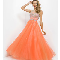 (PRE-ORDER) Pink by Blush 2014 Prom Dresses - Bittersweet Embellished Illusion Prom Gown