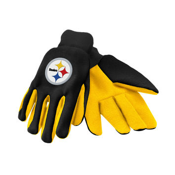 NFL Pittsburgh Steelers Sports Team Logo Safety Work Protection Utility Gloves