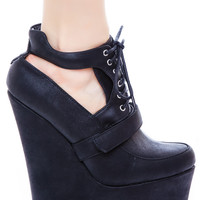 Qupid Vanish Bootie Wedge