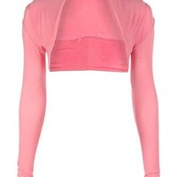 Amazon.com: Style Womens Jersey Long Sleeved Shrug (ONE SIZE 6-12, BABY PINK): Clothing