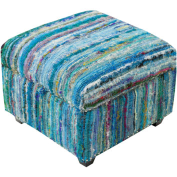 Saturday Night Ottoman  Blue