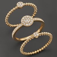 Diamond Pavé 3 Ring Set in 14K Yellow Gold, .50 ct. t.w.