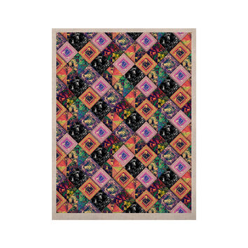 "Danny Ivan ""Never Run Away"" Multicolor Geometric KESS Naturals Canvas (Frame not Included)"