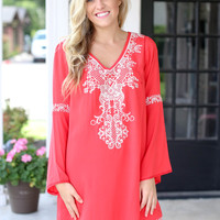 Find My Yacht Dress - Coral