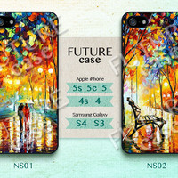 Night Street iphone 4 case Oil Printing light in street iPhone Case iphone 4s case iphone 4g case Hard or Soft Case-NS02