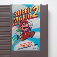 Free Shipping SUPER MARIO Bros. 2 Nintendo NES Video Game Rare Vintage Retro 1987 Mario Brothers Clean