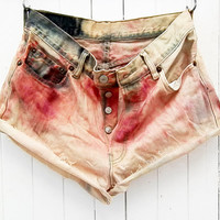 Grunge Fashion Levis Jeans  Cut Off Shorts and Retro Vintage Tumblr Cute Comfy Jean Shorts