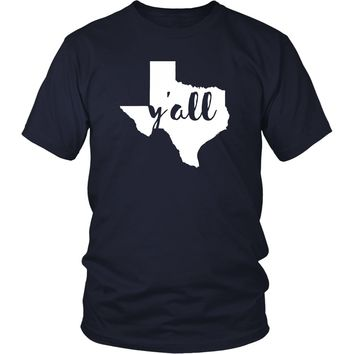 State T Shirt - Texas Y'all