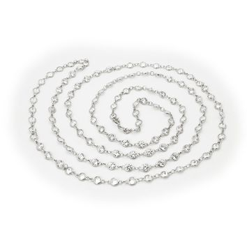 CZ by the Yard Necklace, 40""