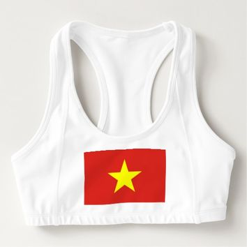 Women's Alo Sports Bra with flag of Vietnam