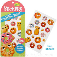 DONUT SCRATCH  SNIFF STICKERS