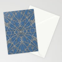Snowflake Blue Stationery Cards by Project M