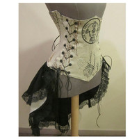French Postage Style Steampunk Corset and New Style by loriann37
