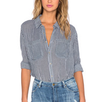 ROLLA'S Skinny Stripe Shirt in Black Stripe