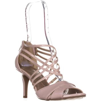 Bandolino Marlisa Strappy Peep Toe Sandals, Light Pink, 6 US