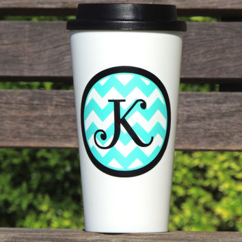 Personalized coffee tumbler, white coffee tumbler, monogrammed tumbler, insulated coffee cup, white coffee tumbler, tea tumbler,holiday cup