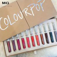 19PCS/lot Nude Colourpop Lips Wheaten Nude Moisture Care Nourish Matte Lip Gloss 24 Gorgeous Colors